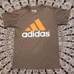 Adidas Gray On The Go Logo Tshirt